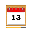 Thirteenth day in the calendar vector image vector image