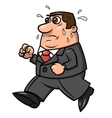 Tired running businessman 2 vector image
