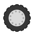tractor tire isolated icon vector image vector image