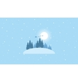 Train Santa on the sky landscape vector image vector image