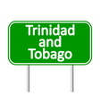 Trinidad and Tobago road sign vector image vector image