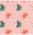 tropical leaves on pastel shade seamless pattern vector image vector image