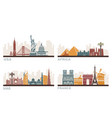 usa france uae and africa architectural vector image vector image