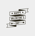 valentines day badges and stickers vector image