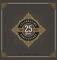 vintage anniversary logo emblem with flourishes vector image vector image