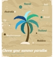 Vintage sea vacation poster vector image