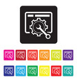 website maintenance icon set vector image