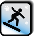 Winter icon -skateboard vector image