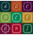 Set of monograms hand drawn style colorful with vector image