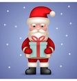 Cartoon Santa Claus Toy Character Hold Present vector image