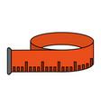 measuring tape design vector image