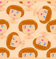 seamless pattern of woman avatar vector image