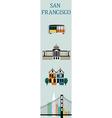 Symbols of San Francisco vector image