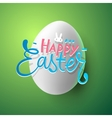 Very Happy Easter greeting card with easter egg vector image