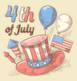 4th july united states independence day vector image