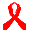 AIDS Awareness Ribbon from the hands of