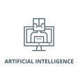 artificial intelligence computer line icon vector image vector image