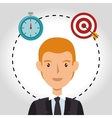 avatar business man vector image vector image