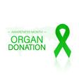 banner with organ transplant and organ donation