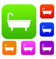 bathtub set collection vector image vector image