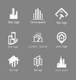 building silhouette logo set vector image vector image
