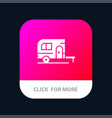 caravan camping camp travel mobile app icon design vector image vector image