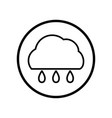cloud and rain icon in circle line - vector image vector image
