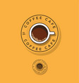 coffee logo cup coffee vector image