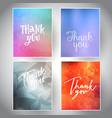 collection of thank you cards vector image vector image