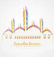 colorful islamic festival background vector image vector image