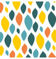 colorfull leaf pattern on vector image vector image