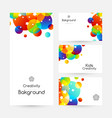 creative kids cards with colorful bubble vector image vector image