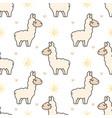 cute llama seamless pattern background vector image
