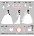 Different Bride dressWedding bridal shower decor vector image