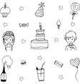 Doodle art wedding party vector image vector image