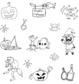 Doodle of character and object Halloween vector image vector image