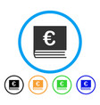 euro bookkeeping rounded icon vector image vector image