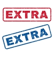 Extra Rubber Stamps vector image vector image