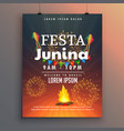 festa junina flyer design for latin american vector image vector image