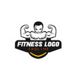 fitness logo design vector image vector image