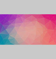 flat horizontal multicolor triangle background vector image vector image