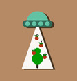flat icon design collection flying saucer and vector image vector image