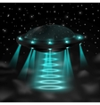 flying ufo in night vector image vector image