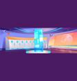 futuristic school hallway interior with lockers vector image vector image
