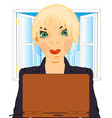 girl in office vector image vector image