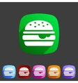 Hamburger burger icon flat web sign symbol logo vector image