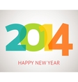 Happy New Year retro greeting card with vector image vector image