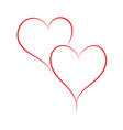 Heart painted with a brush for design vector image vector image