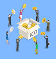 ico flat isometric concept vector image vector image