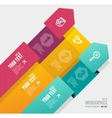 infographics options banner 1 2 3 vector image vector image